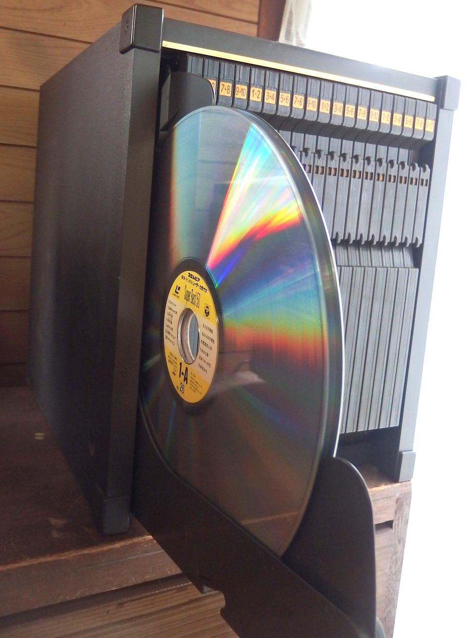 レーザーディスクを捨てる Throw...